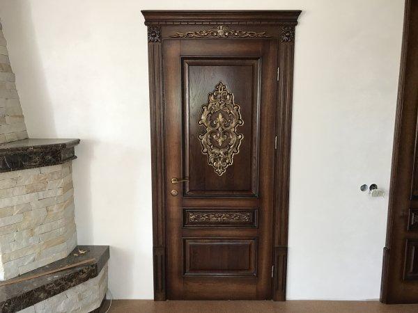 Фото 5 Міжкімнатні двері, Різьба, Патина, Дуб 324019