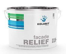 Фото  1 KOLORIT Facade Relief структурная водно-дисперсионная краска 1807301