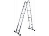 Фото  2 Шарнирная универсальная лестница трансформер четырехсекционная на 3 ступени 2255523