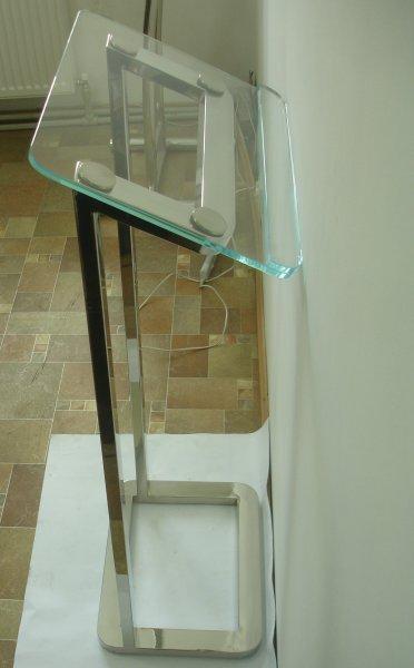 Фото  1 Кафедра для выступлений нержавеющая сталь стекло 1754652