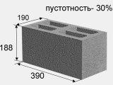 Фото  1 Бетонный блок 20х20х40 2132342