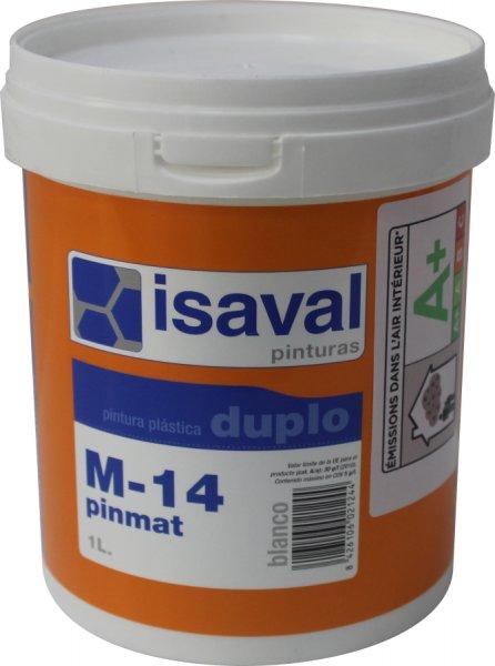 Фото  1 Глубокоматовая краска для потолков и стен М-14 Пинмат ISAVAL 1л до 8м2 1921997