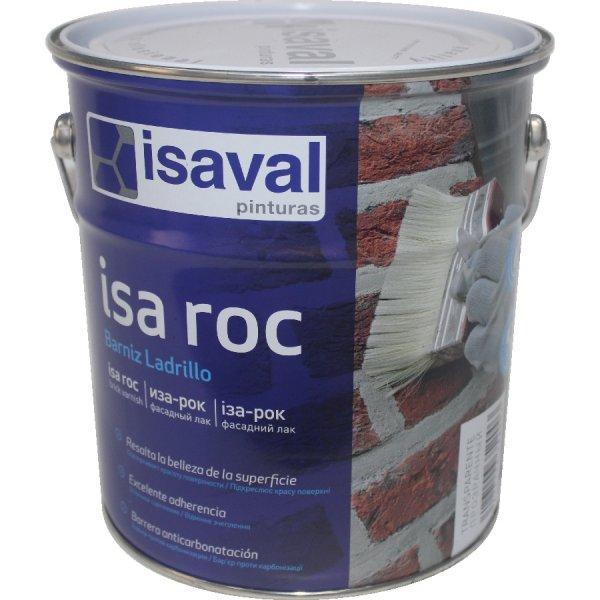 Фото  1 Лак для камня фасадный гидроизоляционный «мокрый камень» Иза-Рок 4л ISAVAL 1859148