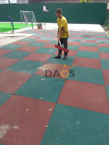 Фото 3 Резиновая напольная плитка, резиновое покрытие СПОРТФЛЕКС, терракот 336936