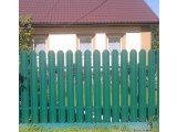 Фото 2 Евроштакетный металлический забор 321354