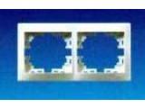 Рамка 2-двойная Mira 701-0200-147 белая