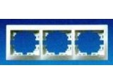 Рамка 3-тройная Mira 701-0200-148 белая