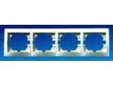 Рамка 4-четверная Mira 701-0200-149 белая