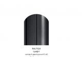Фото  1 Металлический штакетник (евроштакетник) с матовым полимер покрытием, двусторонний цвет 7024, металл 0,45, ширина-13см 2358461