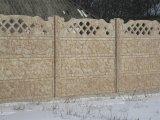 Цветной бетонный забор