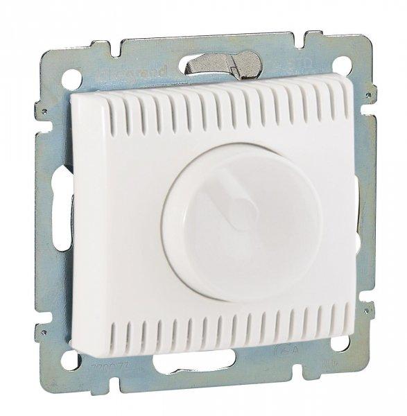 Фото  1 Светорегулятор поворотный 100-1000Вт Legrand Valena Classic 770060, цвет белый 1919869