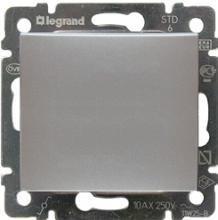 Фото  1 Переключатель промежуточный 1-клавишный Legrand Valena Classic 770107, цвет алюминий 1919970