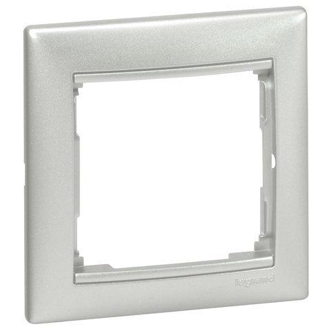 Фото  1 Рамка 1-я Legrand Valena Classic 770151, цвет алюминий 1920006