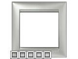 Фото  1 Рамка 5-я Legrand Valena Classic 770155, цвет алюминий 1920010