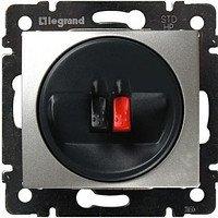 Фото  1 Розетка для аудиоколонок одиночная 2 конт. Legrand Valena Classic 770223, цвет алюминий 1920002