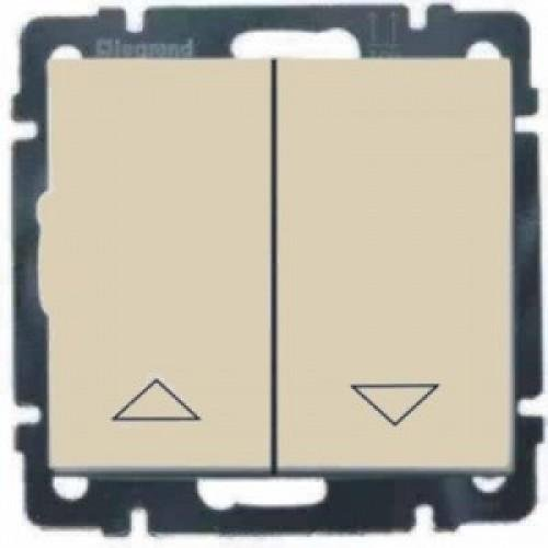Фото  1 Выключатель 2-клавишный управления жалюзи с мех.блоком Legrand Valena Classic 774304, цвет слоновая кость 1919931