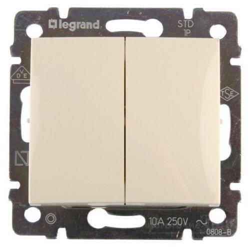 Фото  1 Переключатель 2-клавишный Legrand Valena Classic 774308, цвет слоновая кость 1919926