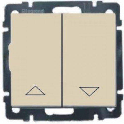 Фото  1 Выключатель управления жалюзи 2-клавишный , с электрон.блоком Legrand Valena Classic 774314, цвет слоновая кость 1919932