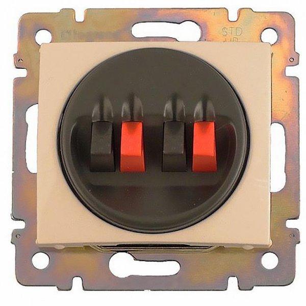 Фото  1 Розетка для аудиоколонок двойная 4 конт. Legrand Valena Classic 774324, цвет слоновая кость 1919956
