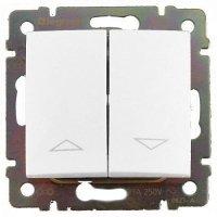 Фото  1 Выключатель 2-клавишный управления жалюзи с мех.блоком Legrand Valena Classic 774404, цвет белый 1919870