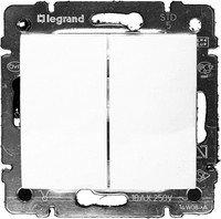 Фото  1 Выключатель 2-клавишный Legrand Valena Classic 774405, цвет белый 1919863