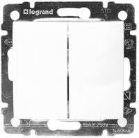 Фото  1 Переключатель 2-клавишный Legrand Valena Classic 774408, цвет белый 1919864