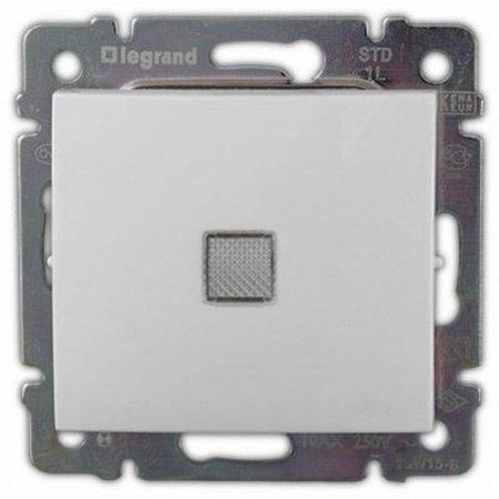 Фото  1 Выключатель 1-клавишный с подсветкой Legrand Valena Classic 774410, цвет белый 1919861