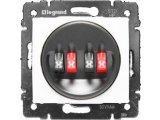 Фото  1 Розетка для аудиоколонок двойная 4 конт. Legrand Valena Classic 774424, цвет белый 1919895