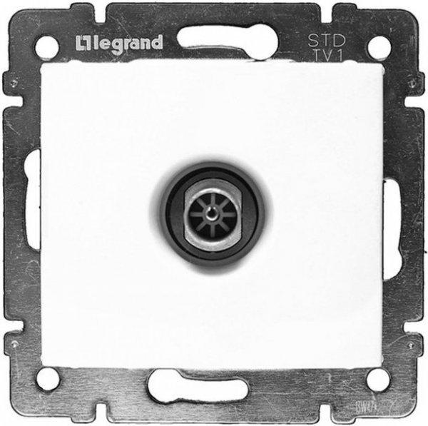 Фото  1 Розетка ТВ прохідна, 2400 МГц 14дБ Legrand Valena Classic 774431, колір білий 1919882