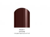 Фото  1 Металлический штакетник (евроштакетник) с глянцевым полимер покрытием, двусторонний цвет 8017, металл 0,45, ширина-13см 2358451