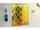 Фото 1 Зеркало Золотое. Зеркало золотого цвета. Золотая зеркальная плитка. 335933