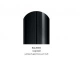 Фото  1 Металлический штакетник (евроштакетник) с матовым полимер покрытием, двусторонний цвет 9005, металл 0,45, ширина-13см 2358464