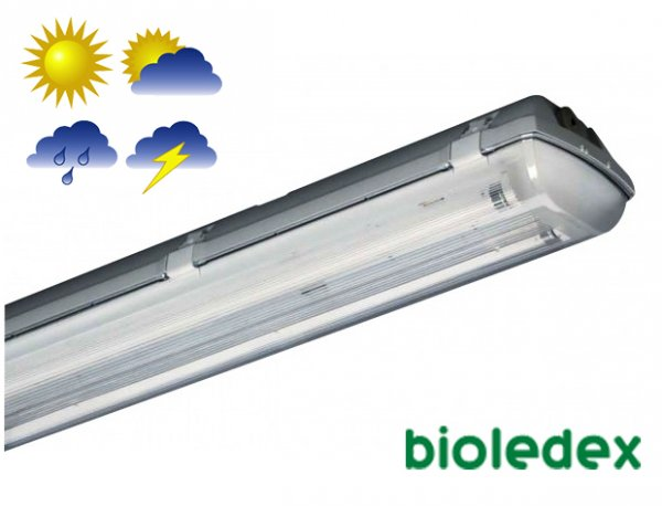 Герметичный офисно-промышленный светильник Bioledex DOLTA-2 для светодиодных труб 2x150см IP66