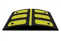 Лежачий поліцейський основний елемент 500*500мм. товщ.50мм. вага-10кг.
