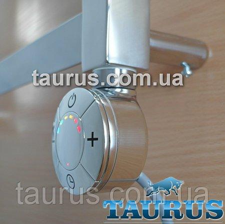 Фото  1 Електротенов Smart з регулятором + таймер 3 режиму, для сушки для рушників, хром (Італія). Кольорова LED підсвічування 1866411