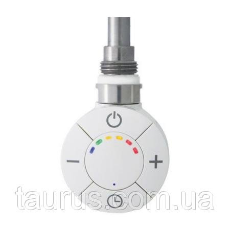 Фото  1 Білий електротенов Smart для сушки для рушників: регулятор + таймер 3 режиму; 6-кольорова LED підсвічування + звук, Італія 1866410
