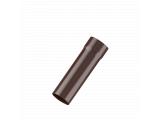 Фото  1 Труба 80мм водосточной системы Fitt, 125/ 80мм, цвет коричневый 2084802