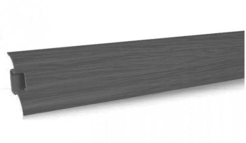 а 401 Плинтус с кабельканалом и резиновыми краями. Длинна планки 2.5м серый www. profil-plus. com. ua