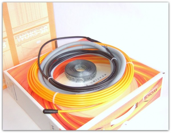 A. POL-EXCEL Теплый пол. Нагревательный кабель WOKS 17-2400 (срок службы свыше 15 лет!!!)