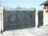Фото  1 Ворота металлические фото Железные ворота с калиткой в Николаеве 1945382