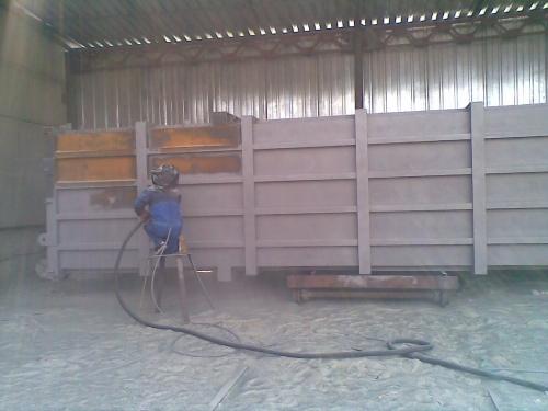 Абразивная очистка металлоконструкций и железобетонных изделий