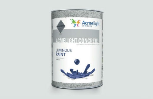 AcmeLight Concrete 1л. - самосветящаяся краска для бетонных поверхностей создана на полиуретановой основе