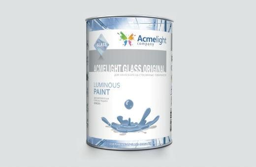 AcmeLight Glass Original 1л. - самосветящаяся краска для стекла и стеклянных поверхностей на сольвентной основе