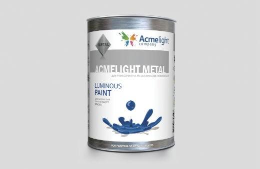 AcmeLight Metal 1л. - самосветящаяся краска для металлических поверхностей создана на полимерной основе