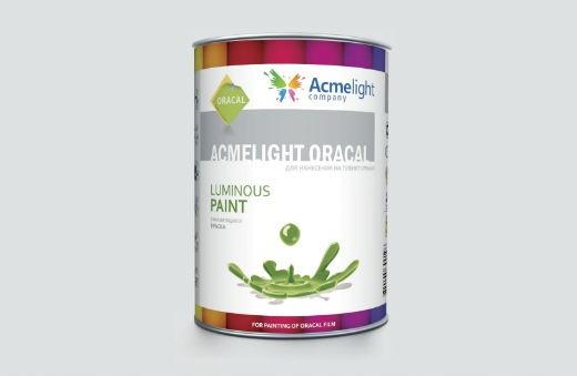 AcmeLight Oracal 1л. - самосветящаяся краска для пленки оракал на сольвентной основе