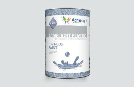 AcmeLight Plastic 1л. - краска для пластмасс: ПВХ, полистирола, полипропилена