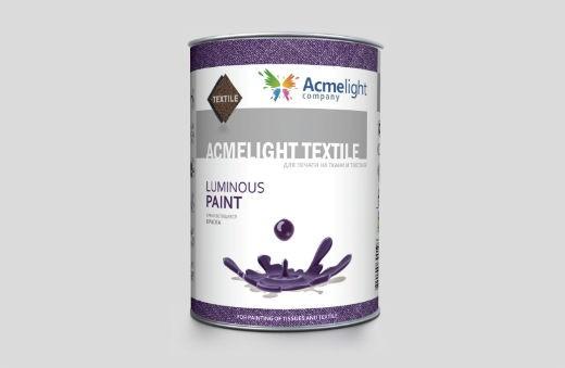 AcmeLight Textile 1л. - самосветящаяся краска на пластизолевой основе для печати по текстилю