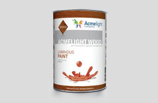 AcmeLight Wood 1л. - краска по дереву, фанере, ДВП и ДСП на акриловой основе