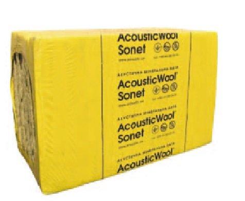 Фото  1 Шумоізоляція під гіпсокартон AcousticWool Sonet 1200х600х50мм 2092831