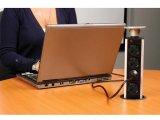 Фото  7 Выдвижной блок розеток ElectroHouse Ø60 2x220V 2xUSB IP40, металл 2347577